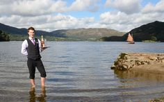 In the lake. Inn on the Lake, Ullswater, Lake District, Cumbria