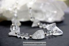Bergkristallkette (Unikat) 47 cm lang in Mineralienschmuck auf Uhrenmarkt Juppy24 Diamond Earrings, Jewelry, Minerals, Crystals, Clock, Necklaces, Schmuck, Jewlery, Jewerly