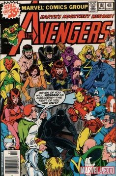 Avengers 181 - one of the first Avengers comics I had as akid. Cover by George Pérez.