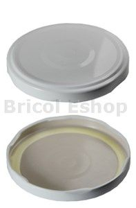 Viečko T.O. 82 Steril Klik - biela plech RSB pre styk s tukmi a olejmi  nad 120° C TP
