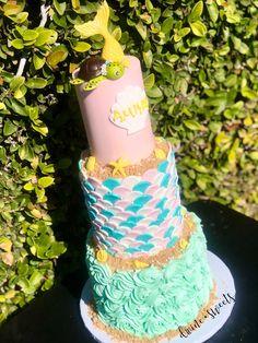 This custom cake was made to welcome a beautiful baby girl! Love the handmade fondant baby turtle! Three Tier Cake, Fondant Baby, Baby Turtles, Beautiful Baby Girl, Tiered Cakes, Custom Cakes, Desserts, Handmade, Food