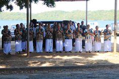 Une chorale s'est installée au marché de Neiafu, #Tonga