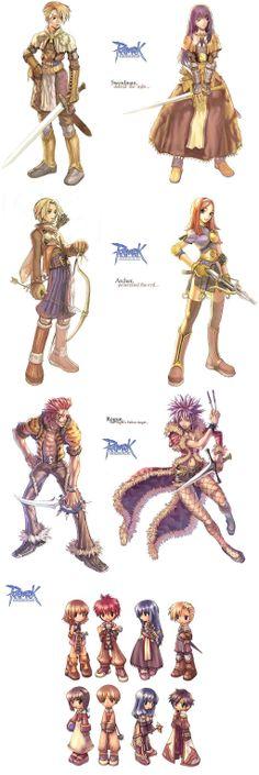 Ragnarok Online Game Character Design, Fantasy Character Design, Character Design Inspiration, Character Concept, Character Art, Manga Characters, Fantasy Characters, Ragnarok Class, Game Art