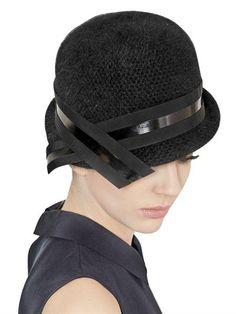 Emporio Armani Angora Blend Cloche Hat on shopstyle.com