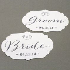 Free Download: Bride and Groom Chair Signs at Love vs. Design