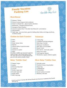 printable beach vacation packing list   summer trip to the ...