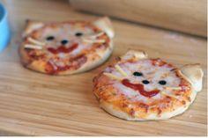 Kitty mini-pizzas!