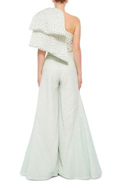 Silk One Shouldered Hustle & Bustle Top by ROSIE ASSOULIN Now Available on Moda Operandi