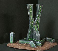 Necron Scenary Warhammer 40k Necrons, Warhammer Terrain, 40k Terrain, Wargaming Terrain, Sci Fi Miniatures, Tabletop, Prop Design, Tentacle, Decoration