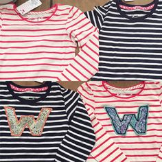 W appliqué with Liberty of London tana lawn fabric