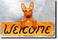Pharaoh Hound Welcome Sign