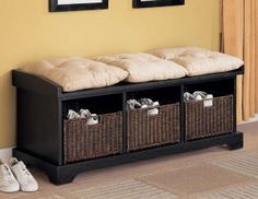 Shoe Storage Living Room Bench With