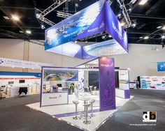 When doing a trade show stand, don't just think what happens at stand level, also think about about branding overhead for better exposure throughout the show like Astra Zeneca did at AGW 2012.