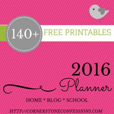 Get organized in 2016 with these 140+ 2016 planner printables covering everything from home keeping, finances, and menu planning, to blogging, holiday planning, and homeschooling.