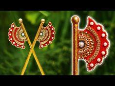 Comment faire un fan. Thali Decoration Ideas, Diwali Decorations, Festival Decorations, Bridal Gift Wrapping Ideas, Janmashtami Decoration, Acrylic Rangoli, Birthday Room Decorations, Laddu Gopal Dresses, Pearl Crafts