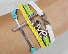 children cross braceletsinfinite love bracelets by lifesunshine, $6.99