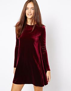 Glamorous | Glamorous Velvet Swing Dress at ASOS