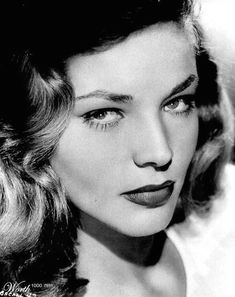 Lauren Bacall. Just watched To Have and Have Not last nite. You do know how to whistle, doncha, Steve?