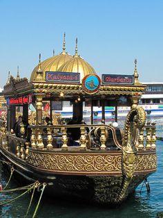 Istanbul - Restaurant Boats by the Galata Bridge                                    by JPatR, via Flickr