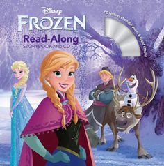 Disney Frozen Read-along Storybook and CD featuring Anna, Elsa, Kristoff, Sven and Olaf on the cover.