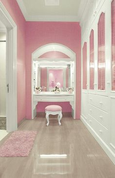 Another color besides pink...other than that...great layout!  Dressing room...different color