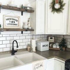 Farmhouse winter kitchen