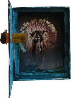 An artwork by a student influenced by Joseph Cornell