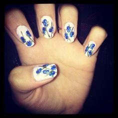 blueberry design by cutepolish <3