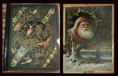 Victorian Scrapbook, Die cuts, Early Tuck Santa Card, Scrap, Advertising, etc.