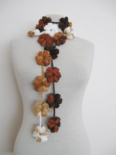 Crochet Flower Necklace Free Pattern | ... flowers necklace is handcrocheted this exquisite necklace is just