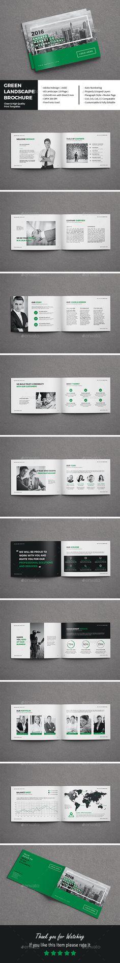 Company Profile - Landscape Company profile design, Company - landscape brochure