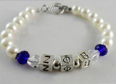 Zeta Phi Beta Pearl Bracelet