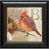 Found it at Wayfair - Red Love Birds I Framed Graphic Art