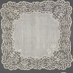 Handerkerchief, Irish lace, 19th century. Courtesy of the Metropolitan Museum of Art. The Nuttall Collection, gift of Mrs. Magdalena Nuttall, 1908 (08.180.918). Photograph © 1998 The Metropolitan Museum of Art.