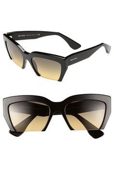 2d10049132 Miu Miu 56mm Sunglasses available at  Nordstrom Rimless Frames