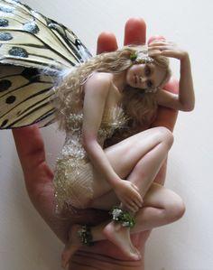 Sarah, an OOAK polymer clay fairy by Amanda Day