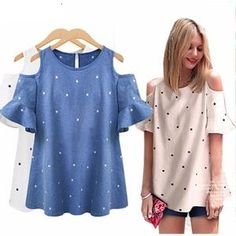 Sexy Off Shoulder Top Blouse Plus Size Haut Femme Casual Women Shirts 2016 Summer Tops Loose Ladies Tops Blusa Feminino Look Fashion, Womens Fashion, Off Shoulder Tops, Shoulder Shirts, Cold Shoulder, Plus Size Blouses, Summer Tops, Ladies Dress Design, Casual Tops