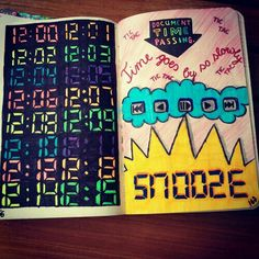 Wreck this journal, document time passing...♥