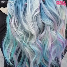 Mesmerizing opal hair is the newest beauty trend taking over salons. The soft, multicolored hues look like a real life magic trick. The trend combines the best of mermaid and unicorn hair to create dreamy tones of peach, blue and purple!