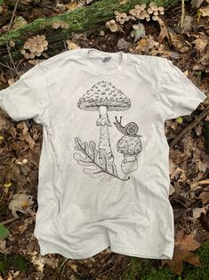 Original Forest Friends Illustration printed on grey tee Hand Printed & Shipped by the Nature Walk Studio TeamPlease allow weeks for printing and shipping Estilo Converse, Friends Illustration, Rave Costumes, Forest Friends, Grey Tee, Rave Outfits, Walking In Nature, Aesthetic Clothes, Festival Fashion