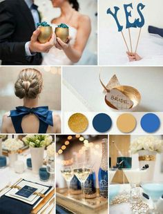 Azul e dourado | Blue and gold
