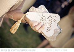 Fan Style Order Of Service - Love The Cute Little Tassel Xx