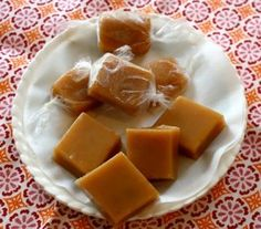 Homemade Caramels - This recipe is AMAZING! One batch makes MANY caramels... Cutting and wrapping the caramels will take a very long time, but everybody loves it so it's worth the time it takes.   Heavy Cream Substitute: 3/4 cups of Milk and 1/3 cup of Melted Butter - Just stir well.