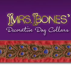Mrs Bones - Decorative Dog Collars