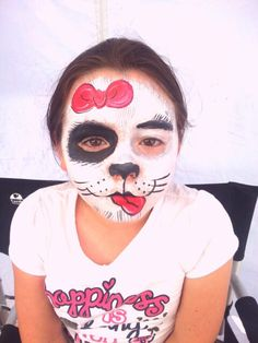 Girl dog / puppy face paint painting by Glitter Goose! Puppy Face Paint, Girl And Dog, Tattoos Gallery, Painting For Kids, Face And Body, Dogs And Puppies, Pixie, Theater, Body Art