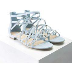 Forever21 Faux Suede Strappy Sandals ($20) ❤ liked on Polyvore featuring shoes, sandals, blue, blue shoes, forever 21 sandals, blue platform sandals, platform sandals and low heel platform sandals