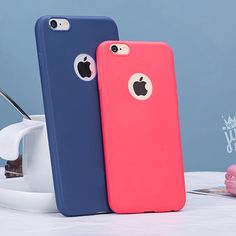 Lovely Candy Color Silicone TPU Gel Soft Case For iPhone 7 Rubber Soft Back Skin Shockproof Phone Cover For iphone 7 Plus Case