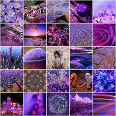 Purple and The Crown Chakra  Violet is associated with the crown chakra, or the energy center at the top of the head. It's said to increase intuition, calm psychological disorders and balance physical and spiritual energies. It has been called the color of wisdom.