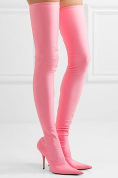 "d7d0527d497 Balenciaga ""Knife"" Thigh-High Boots in Pink Stiletto Boots"