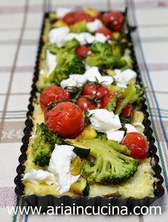 Blog di cucina di Aria: Crostata vegetariana di riso con broccoli, zucchin...